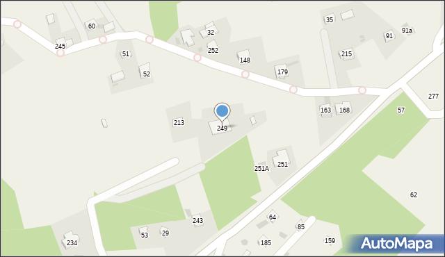 Brzezowa, Brzezowa, 249, mapa Brzezowa