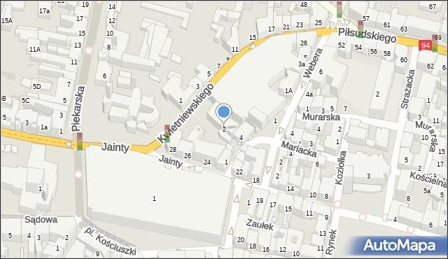 Bytom, Browarniana, 2, mapa Bytomia
