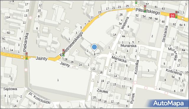 Bytom, Browarniana, 4, mapa Bytomia
