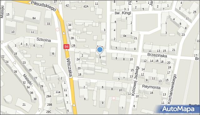Bytom, Brzezińska, 4, mapa Bytomia
