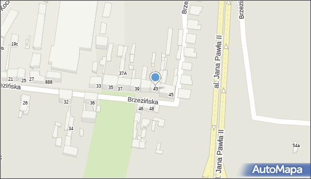 Bytom, Brzezińska, 43, mapa Bytomia