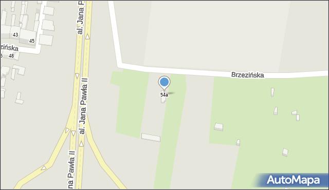 Bytom, Brzezińska, 54a, mapa Bytomia