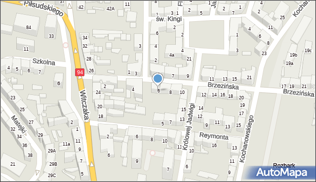 Bytom, Brzezińska, 6, mapa Bytomia