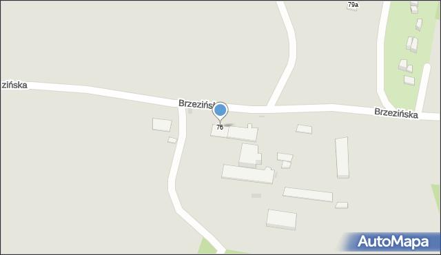 Bytom, Brzezińska, 76, mapa Bytomia
