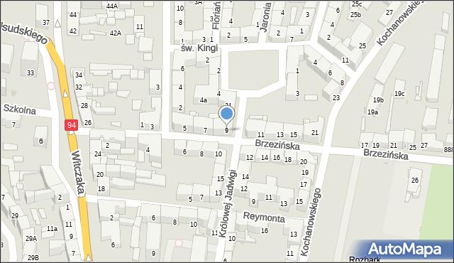 Bytom, Brzezińska, 9, mapa Bytomia