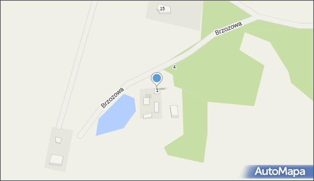 Dąbrówka, Brzozowa, 1, mapa Dąbrówka