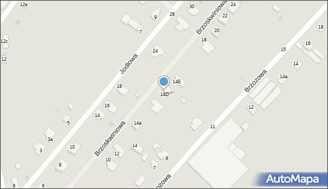 Grudziądz, Brzoskwiniowa, 14D, mapa Grudziądza