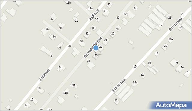 Grudziądz, Brzoskwiniowa, 20, mapa Grudziądza