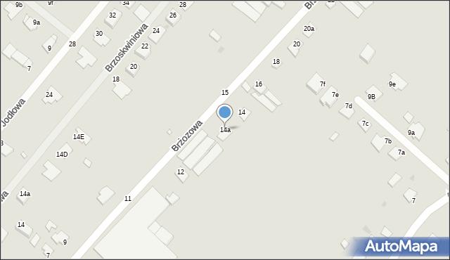 Grudziądz, Brzozowa, 14a, mapa Grudziądza