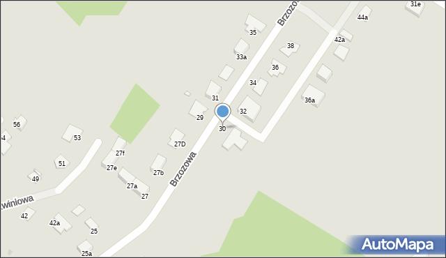 Grudziądz, Brzozowa, 30, mapa Grudziądza