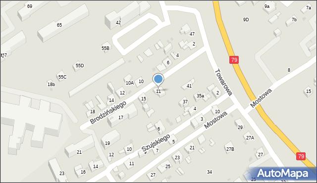 Jaworzno, Brodzińskiego Kazimierza, 11, mapa Jaworzno