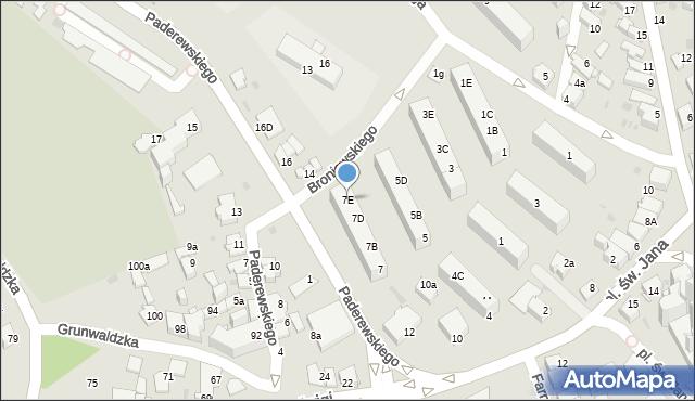 Jaworzno, Broniewskiego Władysława, 7E, mapa Jaworzno