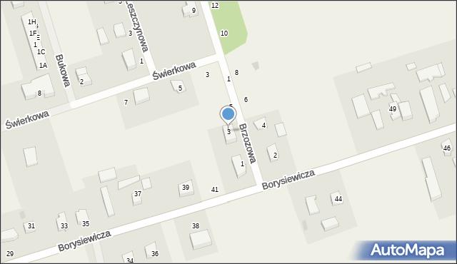 Kochanowo, Brzozowa, 3, mapa Kochanowo