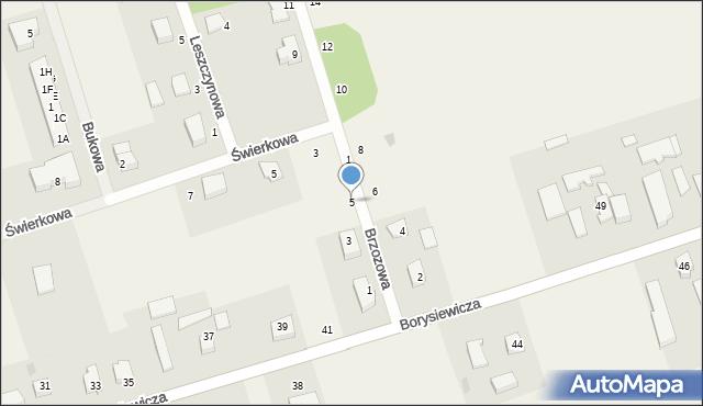 Kochanowo, Brzozowa, 5, mapa Kochanowo