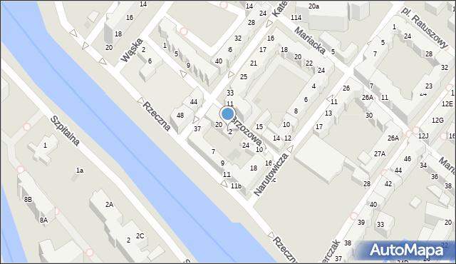 Kołobrzeg, Brzozowa, 22, mapa Kołobrzegu