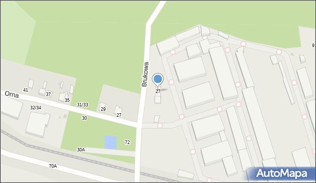 Łódź, Brukowa, 27, mapa Łodzi
