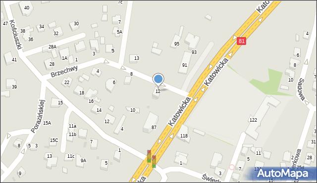 Mikołów, Brzechwy Jana, 12, mapa Mikołów