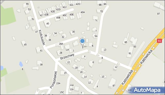 Mikołów, Brzechwy Jana, 3, mapa Mikołów