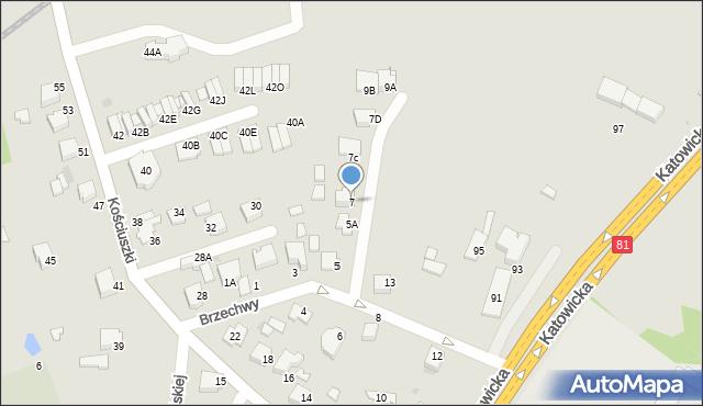 Mikołów, Brzechwy Jana, 7, mapa Mikołów