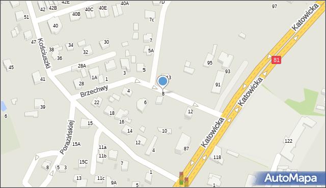 Mikołów, Brzechwy Jana, 8, mapa Mikołów