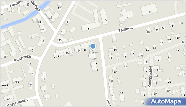 Olecko, Broniewskiego, 11, mapa Olecko