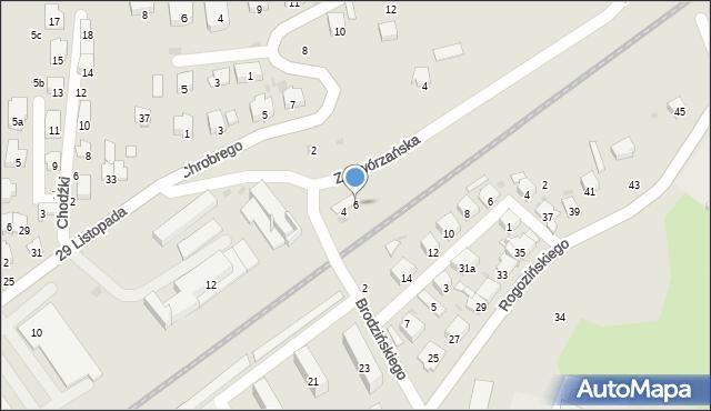 Przemyśl, Brodzińskiego Kazimierza, 6, mapa Przemyśla