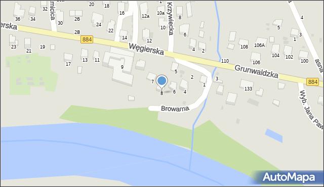 Przemyśl, Browarna, 8, mapa Przemyśla