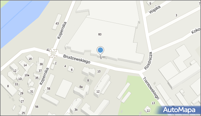 Przemyśl, Brudzewskiego Wojciecha, 1, mapa Przemyśla
