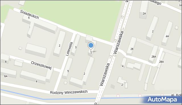 Radom, Braci Śniadeckich Jana i Jędrzeja, 1, mapa Radomia
