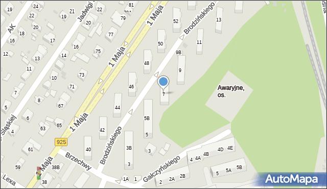 Ruda Śląska, Brodzińskiego Kazimierza, 7, mapa Rudy Śląskiej