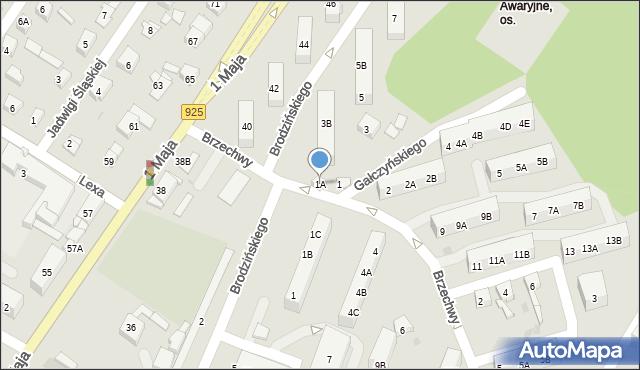 Ruda Śląska, Brzechwy Jana, 1A, mapa Rudy Śląskiej