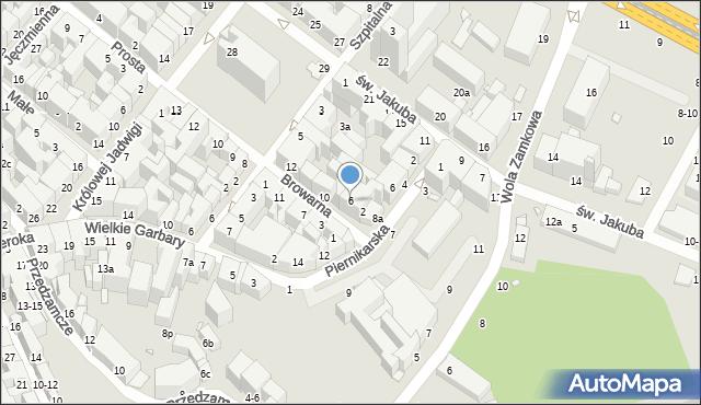Toruń, Browarna, 6, mapa Torunia