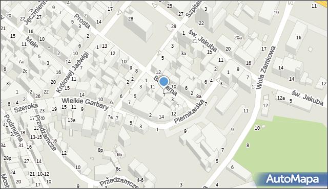 Toruń, Browarna, 7, mapa Torunia