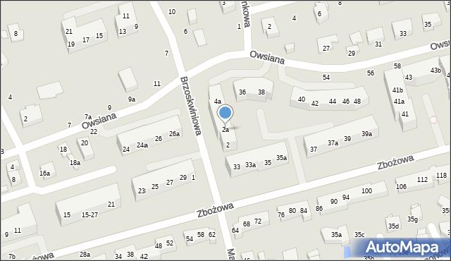 Toruń, Brzoskwiniowa, 2a, mapa Torunia