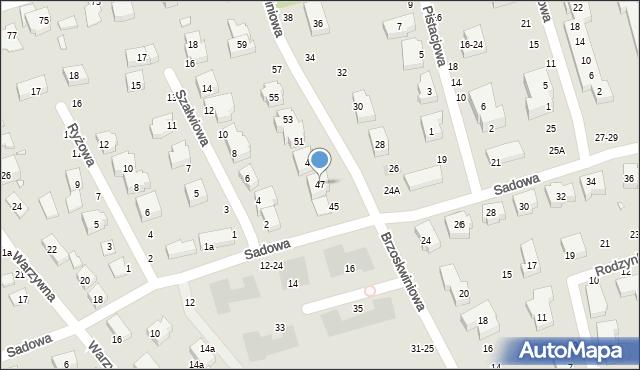 Toruń, Brzoskwiniowa, 47, mapa Torunia