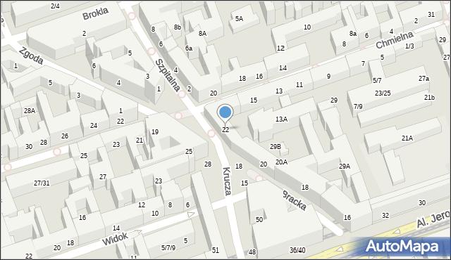 Warszawa, Bracka, 22, mapa Warszawy