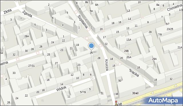 Warszawa, Bracka, 25, mapa Warszawy