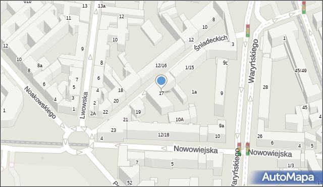 Warszawa, Braci Śniadeckich Jana i Jędrzeja, 17, mapa Warszawy