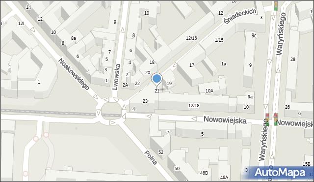 Warszawa, Braci Śniadeckich Jana i Jędrzeja, 21, mapa Warszawy