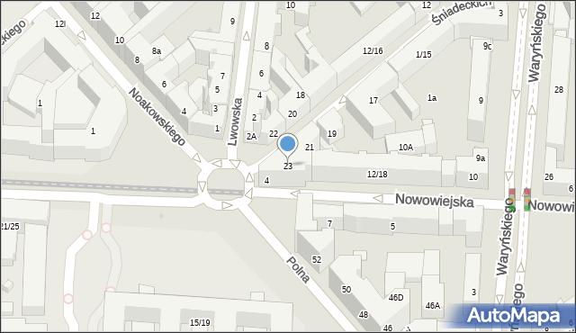 Warszawa, Braci Śniadeckich Jana i Jędrzeja, 23, mapa Warszawy