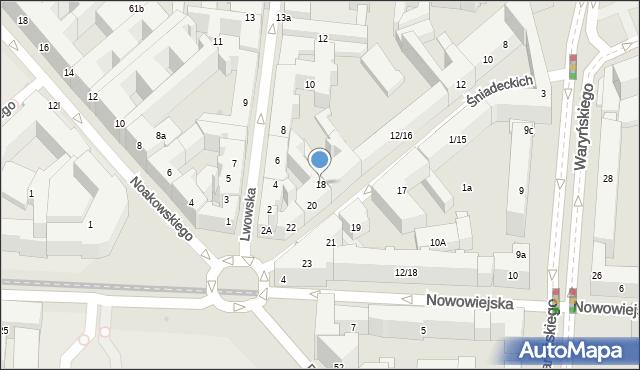 Warszawa, Braci Śniadeckich Jana i Jędrzeja, 18, mapa Warszawy