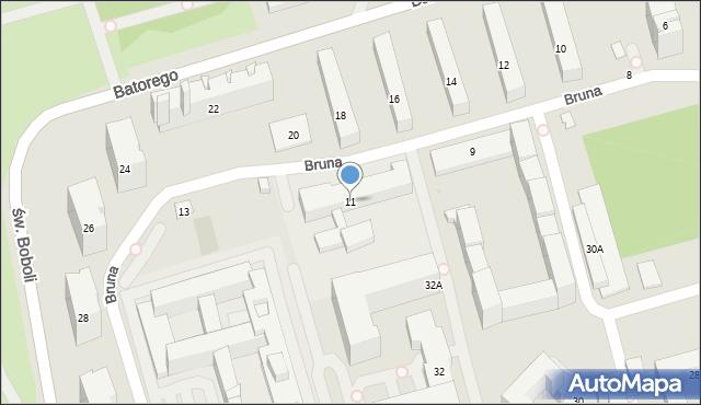Warszawa, Bruna Giordana, 11, mapa Warszawy