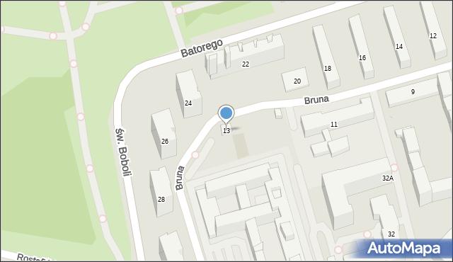 Warszawa, Bruna Giordana, 13, mapa Warszawy