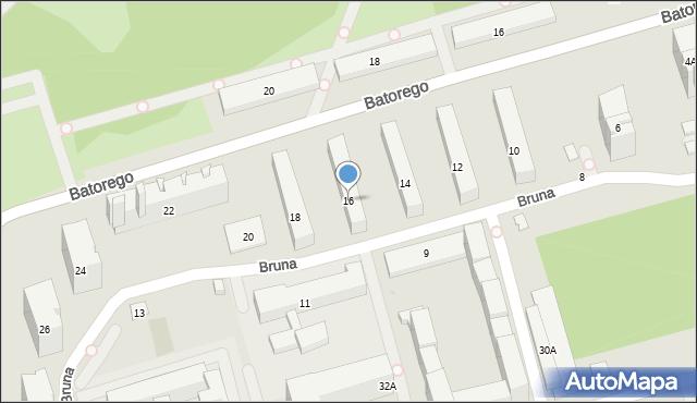 Warszawa, Bruna Giordana, 16, mapa Warszawy