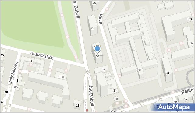 Warszawa, Bruna Giordana, 30, mapa Warszawy