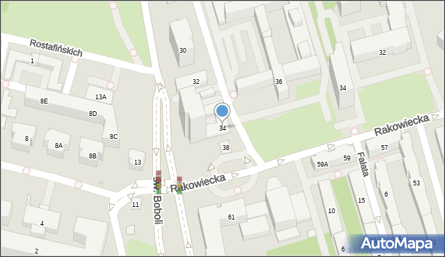 Warszawa, Bruna Giordana, 34, mapa Warszawy