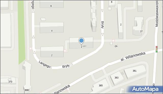 Warszawa, Bryły Stefana, 1, mapa Warszawy