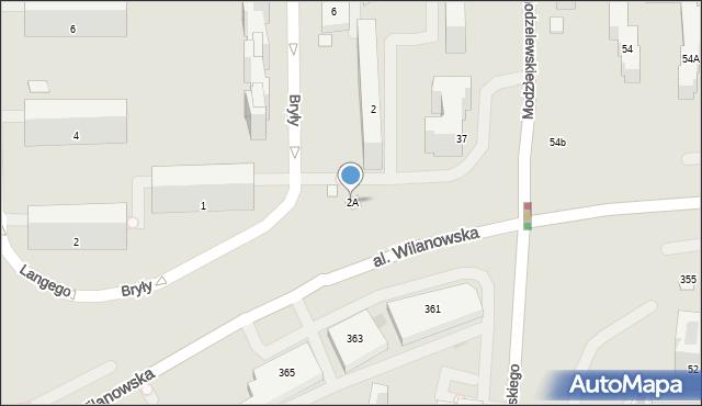 Warszawa, Bryły Stefana, 2A, mapa Warszawy