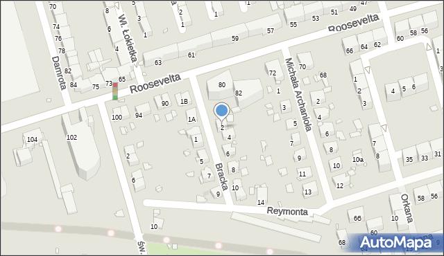 Zabrze, Bracka, 2, mapa Zabrza