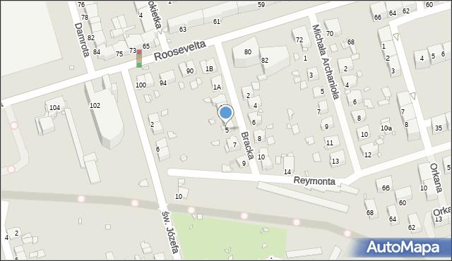 Zabrze, Bracka, 5, mapa Zabrza